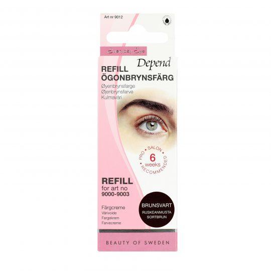 Depend Everyday Eye Ögonbrynsfärg Refill Brunsvart