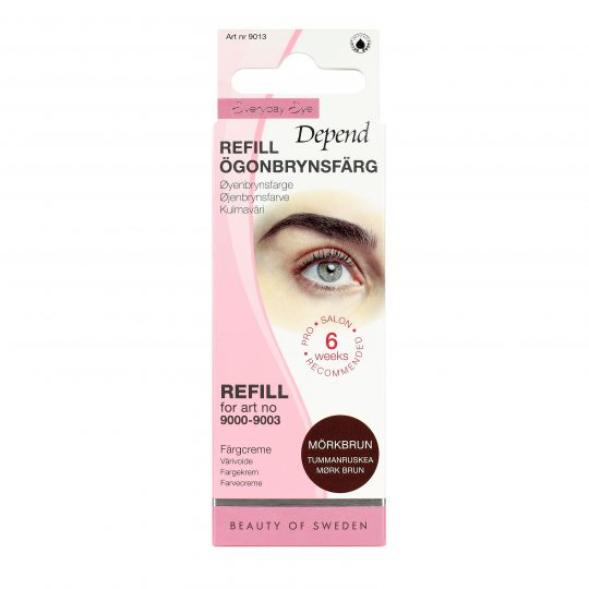 Depend Everyday Eye Ögonbrynsfärg Refill Mörkbrun