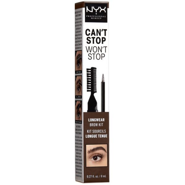 NYX PROFESSIONAL MAKEUP Can't Stop Won't Stop Longwear Brow Ink Kit Es