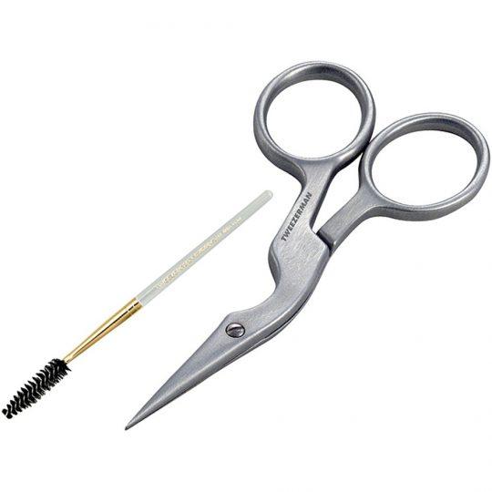Tweezerman Brow Shaping Scissors & Brush, Tweezerman Ögonbrynsfärg & Trimmers